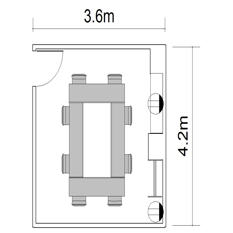 ロノ字:8名