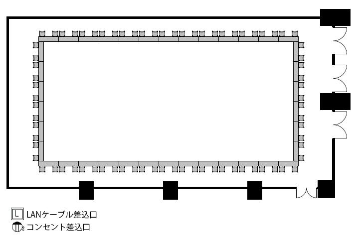 ロノ字:76名